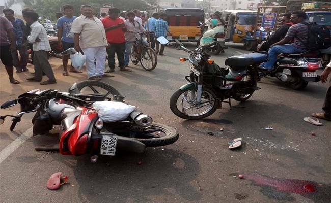 Bike Accident in Vizianagaram - Sakshi