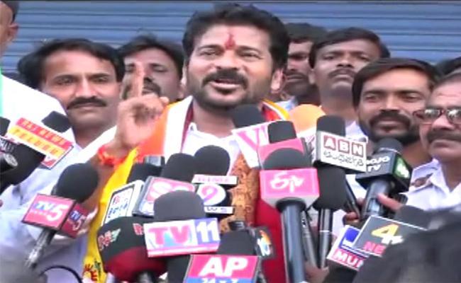 Revanth Reddy Fires On KCR In Rajanna Sircilla Meeting - Sakshi