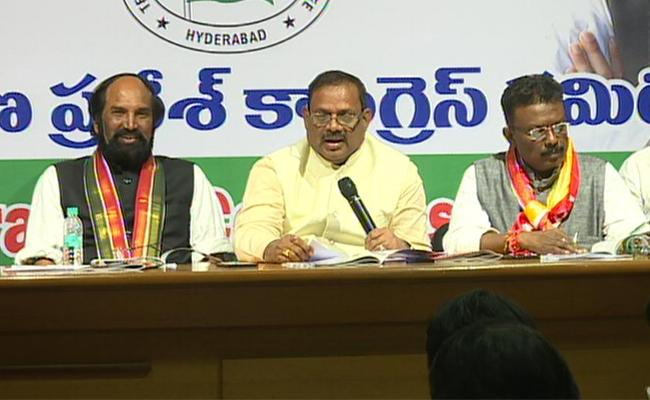 Telangana Elections 2018 Congress Manifesto Released In Hyderabad - Sakshi