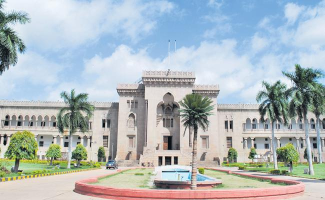 Students Of Osmania University Looking For Hall Tickets On Exam Day - Sakshi