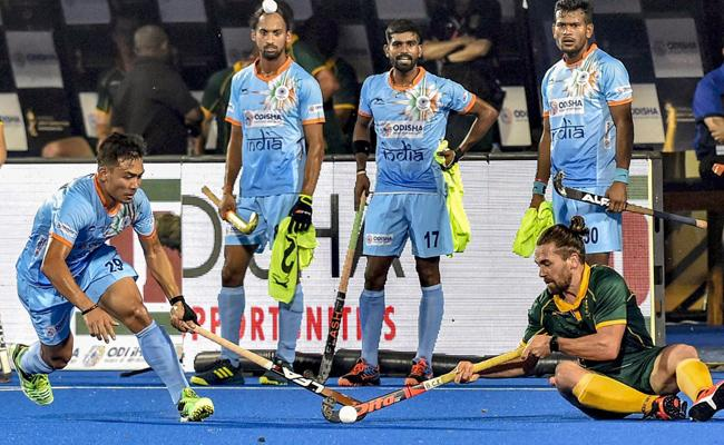 Hockey World Cup: India's five-star show mauls South Africa - Sakshi