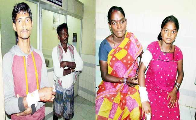 Husband And Wife Knife Attack In Vizianagaram - Sakshi