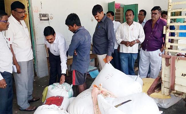 Vigilance Attack On Ricce Mills In Vizianagaram - Sakshi