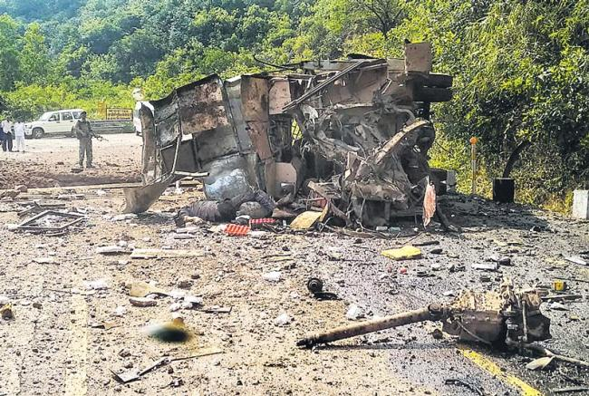 CISF Jawan Among Five Killed As Maoists Blow Up Bus In Chhattisgarh - Sakshi
