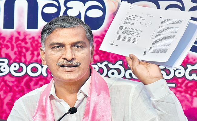 Harish Rao Slams AP CM Chandrababu - Sakshi