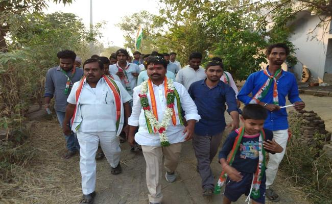 Congress Party Candidate Medipalli Satyam Election Campaign - Sakshi