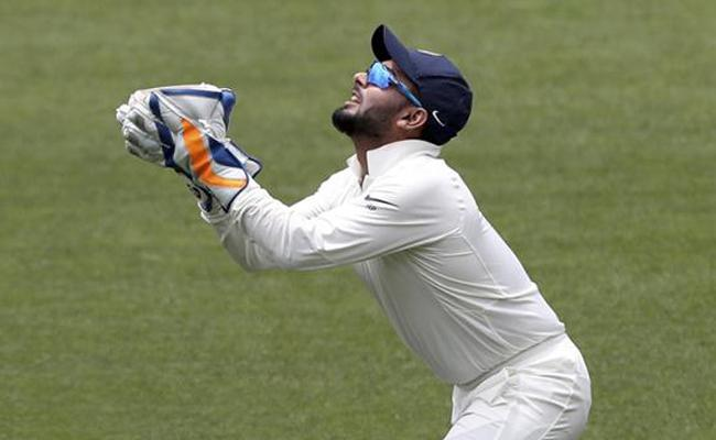Rishabh Pant equals world record with 11 catches - Sakshi