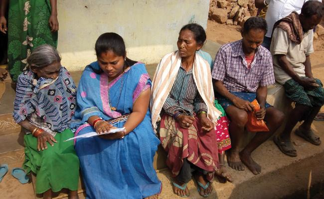 Biometric Harassed Pensioners in Vizianagaram - Sakshi