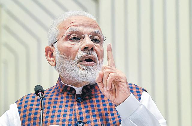 PM Modi Says Public Health Spending To Increase To 2.5 Percent Of GDP - Sakshi