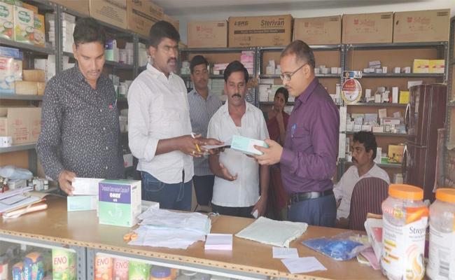 Vigilance Officers Attack on Medical Shops - Sakshi