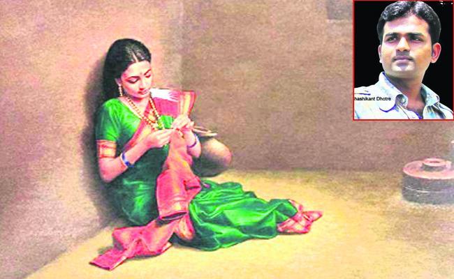 Raichur Painter Shashikant Dhotre Women Paint Collection - Sakshi
