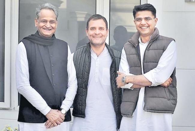 Ashok Gehlot named Rajasthan CM, Sachin Pilot as Deputy CM - Sakshi