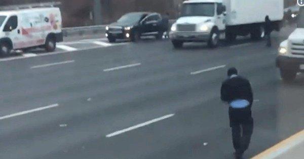 New Jersey highway after armored truck spills CASH all over road - Sakshi