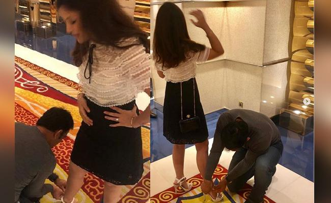 MS Dhoni Helps Wife Sakshi Wear her New Pair of Shoes