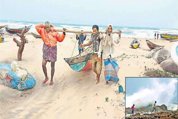 Possibility of severe cyclone strengthened at North Coastal - Sakshi