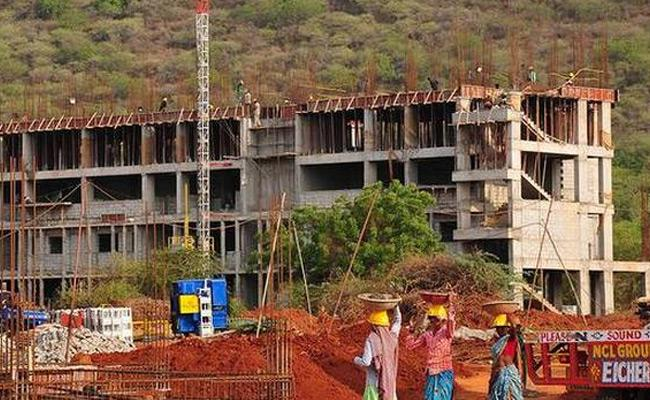 AIIMS Work Delay In Mangalagiri - Sakshi