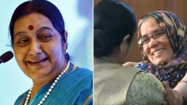 Hamid Ansari Mom Thank Sushma Swaraj - Sakshi