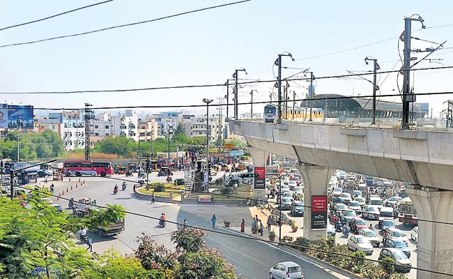 Traffic Free Uppal Cross Roads Soon With Flyover - Sakshi