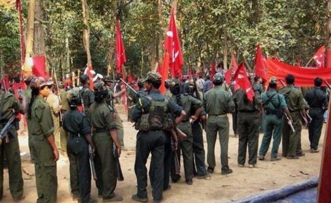 Maoist Meetings In AOB High Tension - Sakshi