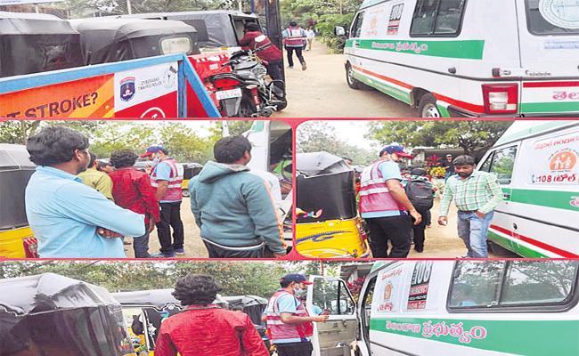 IT Employee Helps Road Accident Women in Hyderabad - Sakshi