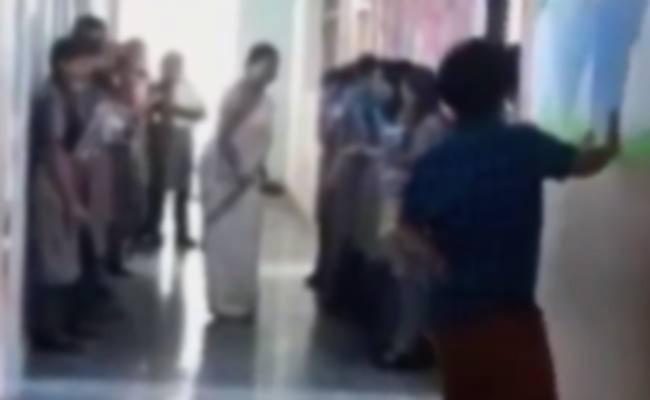 Teacher Bad Words On Non Teaching Staff in School - Sakshi