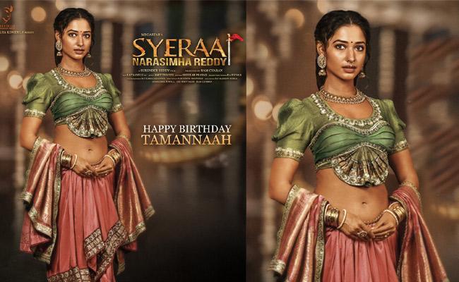 Tamanna First Look In Syra Narasimha Reddy Movie - Sakshi