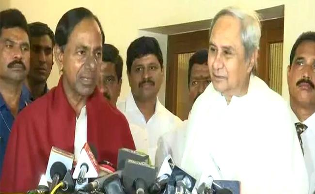 KCR And Naveen Patnaik Press Meet On Federal Front - Sakshi