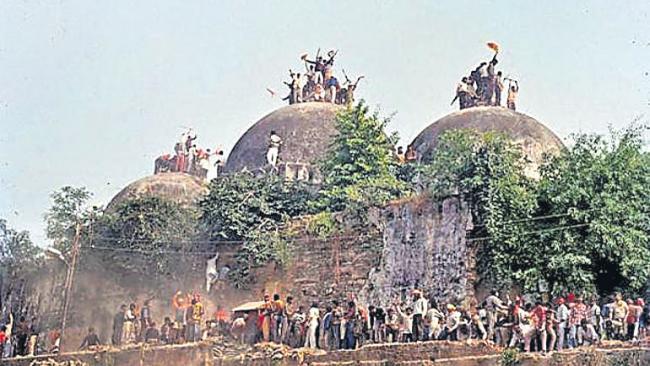 SC to hear Ram Janmabhoomi-Babri Masjid title dispute on 4 January - Sakshi