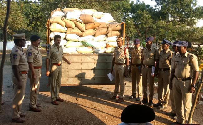 Ration Rice Seized Warangal - Sakshi