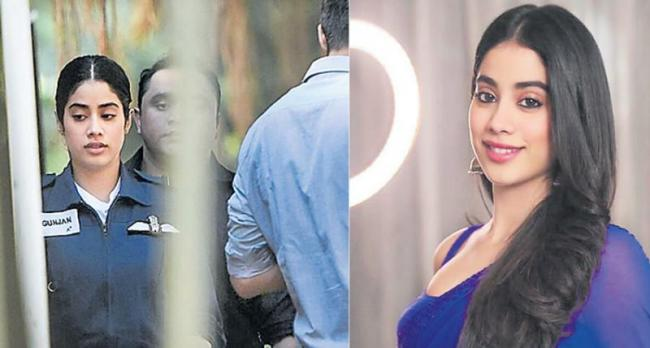 Janhvi Kapoor's look as IAF officer Gunjan Saxena leaked - Sakshi