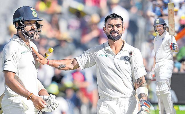 Mayank Agarwal, Cheteshwar Pujara shine on Day 1 of Boxing Day Test - Sakshi