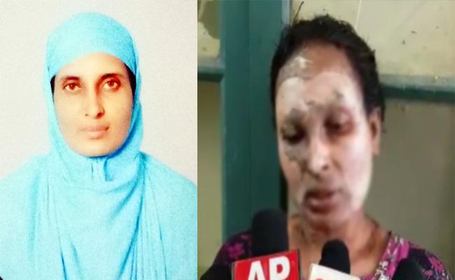 Petrol Attack on Married Woman in Chittoor - Sakshi