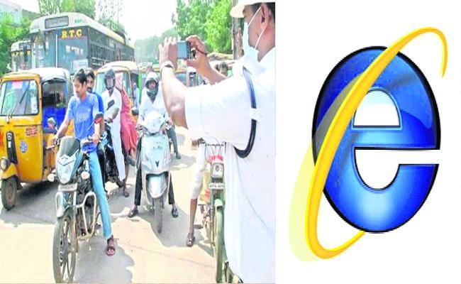 E Challan Technology Use Mahabubnagar Police - Sakshi