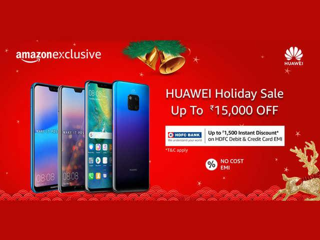 Huawei Holiday sale on Amazon: Get up to Rs 15k discount  - Sakshi