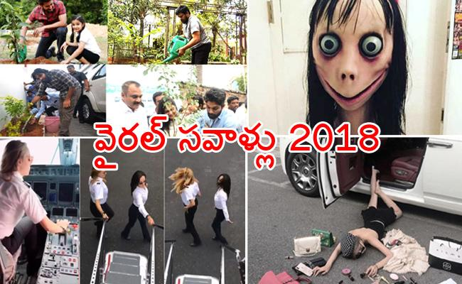 Social Media Challenges That Went Viral In 2018 - Sakshi