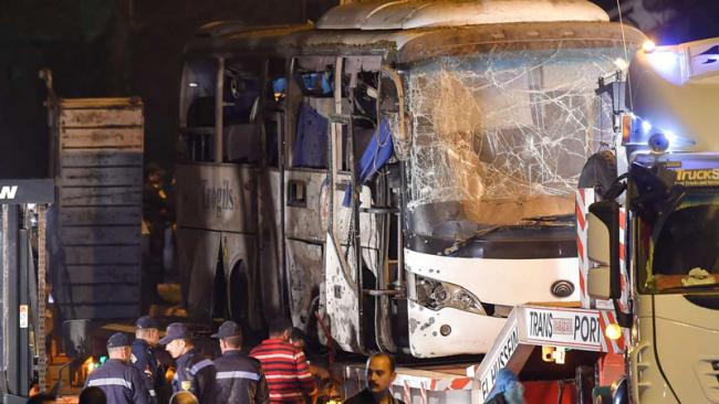 Egypt police kill 40 'terrorists' after Giza bus attack - Sakshi