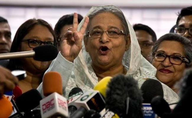 Sheikh Hasina Win Again in Bangladesh - Sakshi