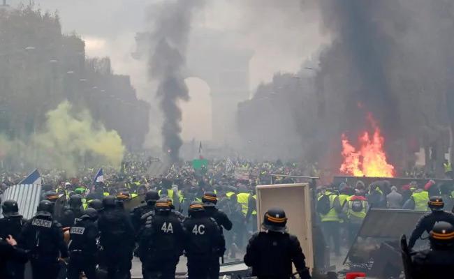 Sakshi Article On Protest In France