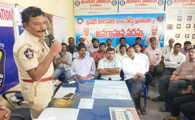 Traffic Police Awareness in Colleges - Sakshi