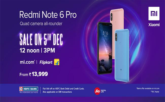 Xiao Redmi Note 6 Pro One Day Special Offer - Sakshi
