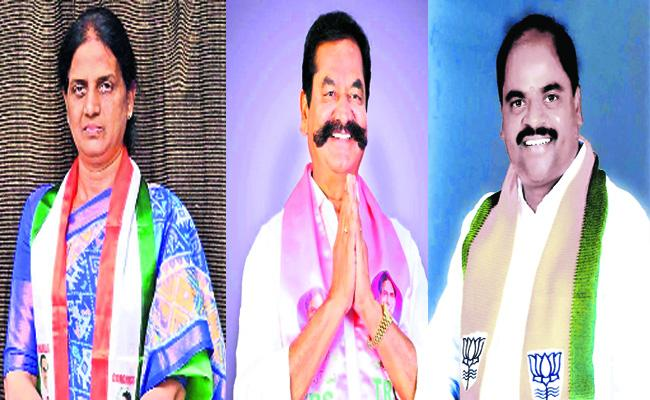 Maheshwaram Trilogy Fighting In The Constituency - Sakshi