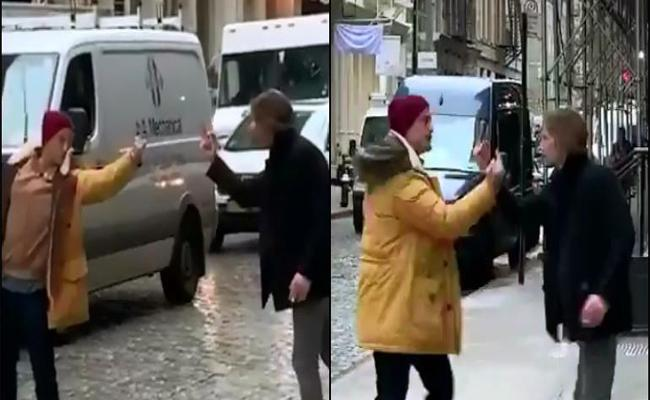 Middle Finger Fight Between Two Guys Goes Crazily Viral - Sakshi