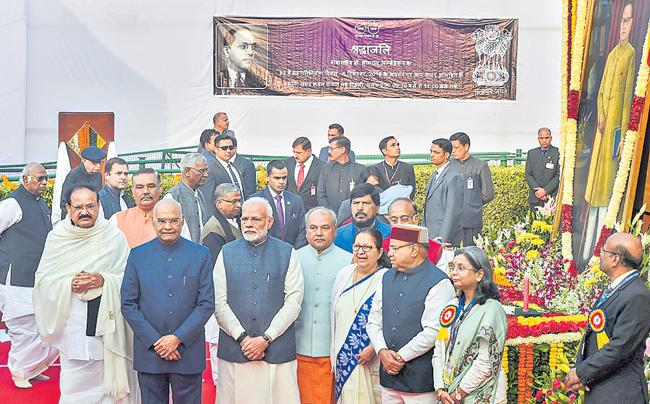Political Leaders Pay Tribute to Dr Ambedkar  Death Anniversary - Sakshi