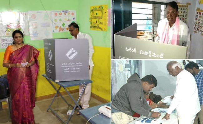 Telangana Ministers Casts Vote - Sakshi