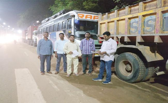 Vigilance Attacks on National Highway - Sakshi