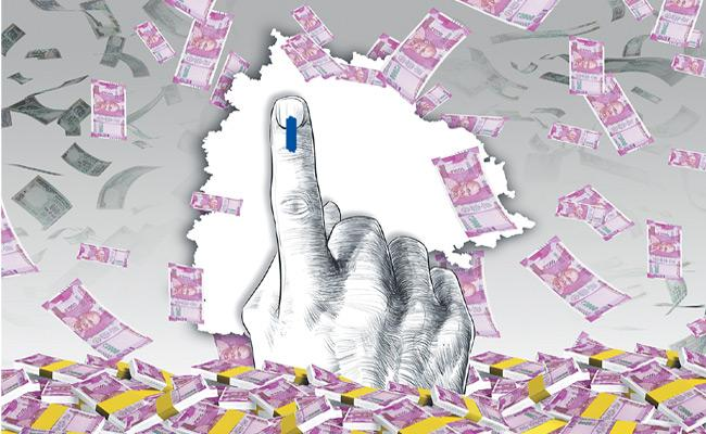 Telangana Elections MLA Candidates Money Distribution - Sakshi