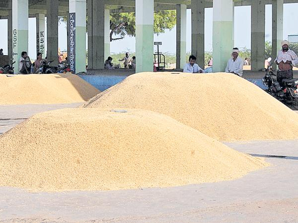 Grain purchases at the end stage - Sakshi