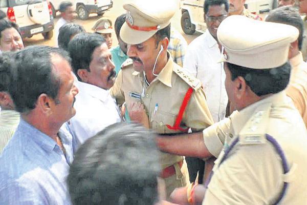 Police over action on YSRCP MLA - Sakshi