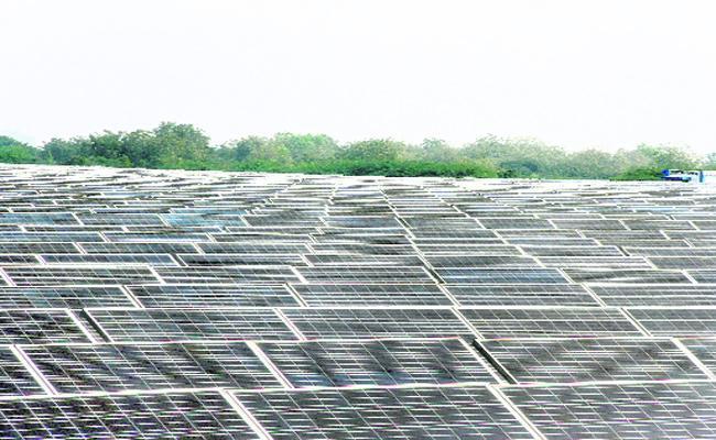 Solar Power Plants In singareni  - Sakshi