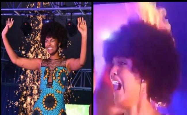 Miss Africa 2018 Pageant Winner Hair Catches Fire - Sakshi